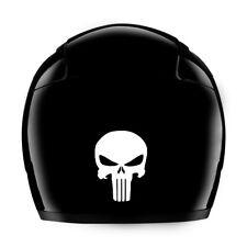 Punisher Reflective Vinyl Sticker Decal In Reflective White / Helmets / Bike
