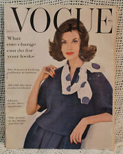 Vtg old VOGUE August 15 1960 Drama in the shoe wardrobe cover photo Leombruno