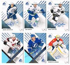 2016-17 SP Game-Used Veterans & Rookies Blue Autograph Pick From List !!