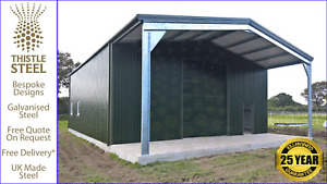 Large Storage Building with Canopy