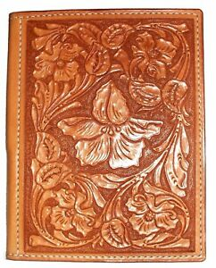 Northwest traditional  floral Style Stamp Design Leather Notebook A5 Handmade