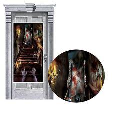 Halloween Haunted House Stairway Door Cover Scene Setter Party Decoration Banner