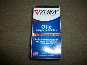 NEW Zymox LP3 Enzyme System Otic Enzymatic Solution Ear Health 1.25 oz