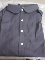 NEW! LANDS END WOMENS 3/4 SLEEVE ROUND COLLAR  BLACK TUNIC BLOUSE SHIRT SIZE 6