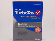 Turbo Tax Deluxe 2013 Federal State Return eFile QuickBooks Easy Win MAC NIB