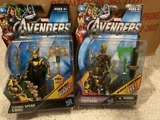 Marvel Avengers Cosmic Spear Loki  & Cosmic Axe Chitauri Set Of 2 Figures New