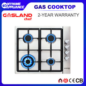 GASLAND chef Gas Cooktop 4 Burners Stainless Steel Wok Burner Cooktop Stove 60CM