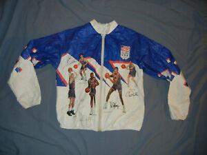 VTG 90's USA Dream Team Tyvek jacket ASIS NBA Sm basketball 1992 Olympics jersey