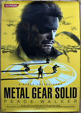 Metal Gear Solid Peace Walker RARE PSP 51.5 cm x 73 Japanese Promo Poster