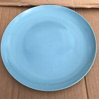 "IKEA Fargrik 21963 Aqua Blue Turquoise Dinner Plate 11"" EUC"