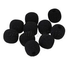 10P L15xD5mm Microphone Headset Windscreen Sponge Mic Cover Pop Filter Black
