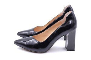 CAPRICE Pumps High Heels EUR 37 UK 4 Schwarz Echt Leder Lackleder Damen TOP