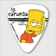 5 x Grover Allman The Simpsons Bart Ay Carumba Guitar Picks *NEW* Plectrums