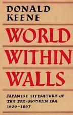 World Within Walls: Japanese Literature of the Pre-Modern Era, 1600-1867, books,