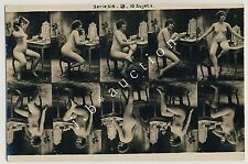 Nude Woman Posing/nude Donna in Posa * VINTAGE 10s Photo sample card/Pattern