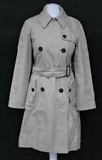 MAX MARA Ladies Beige Double Breasted Overcoat Long Sleeve Trench Coat UK8