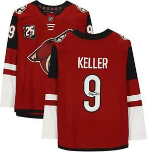 Clayton Keller Arizona Coyotes Signed Red Jersey & 25th Anniversary Patch