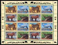 UNO Wien ZD-Bogen MiNr. 222-25 postfrisch MNH gefährdete Tierarten (UN234