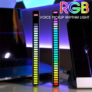 32 LED RGB Car Sound Control Light Voice Activated Pickup Music Rhythm Light bk