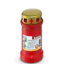 24 x Bolsius Dauerbrenner Nr.3 mit Deckel Grablichter Grabkerzen in rot