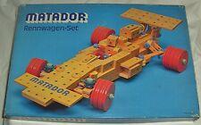 Matador Korbuly Rennwagen-Set Baukasten wie NEU Holzbaukasten aus 1977