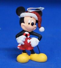Mickey Mouse Candy Cane Santa Hat Christmas Ornament Resin Disney 2012 Figurine