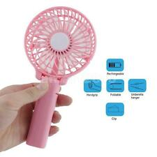 Portable Cooler Travel Desk Foldable Fans + Battery Operated Rechargeable #1