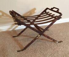 Vintage Woodward Wrought Iron patio Ottoman Footstool