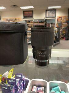Sigma 85mm F1.4 DG Art Lens for Sony E Mount - Black