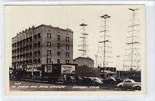 OIL STACKS AND HOTEL, KILGORE: Texas USA postcard (C17074)