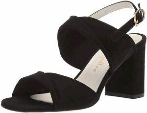 Ann Marino Women's Shoes Angel Leather Open Toe Casual Mule, Black, Size 5.5