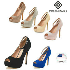 DREAM PAIRS Women's Sexy Peep Toe High Heel Platform Classic Dress Pump Shoes US