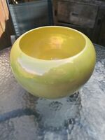 Antique Rare William Moorcroft Burslem Yellow Iridescent Lustre Large Heavy Vase