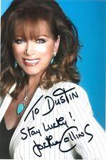 Jackie Collins author autographed 4 x 6 color photo autograph signed