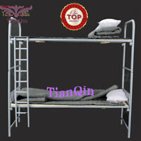 1/6 WWII German Scale Metal & Wooden Bunk Bed Set Fit 12'' Action Figure Toys