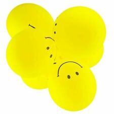 Yellow Smile Face 12 Inch Latex Balloons 10pcs
