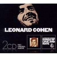 """LEONARD COHEN """"SONGS OF LEONARD COHEN & SONGS OF LOVE AND HATE"""" 2 CD NEW+"""
