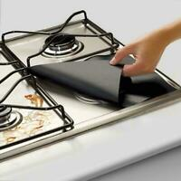 4pcs Kitchen Gas Stove Top Burner Reusable Protector Cleaning Liner Cover