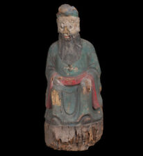 China 17. Jh. Große Holzfigur -A Large Chinese Carved Wood Figure Of A Sage Ming