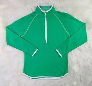 Peter Millar Womens Wicking Golf 1/2 Zip Pullover Long Sleeve Medium Green