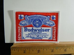 Budweiser Bud Beer Embroidered Iron-on Patch 3.5x2.5