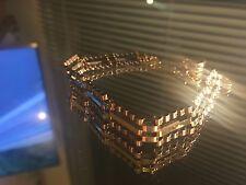 9ct Gold Fancy 3 bar Link Gate Bracelet, nice design, 7.3G