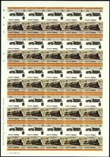 1935 FCC Andes Class 2-8-0 (Peru) Imperf/Imperforate Train Stamp Sheet