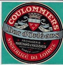 I942 FROMAGE COULOMMIERS MARCHAND ET VASSENEX CHECY LOIRET DUC D ORLEANS