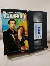 GIGLI -VHS MOVIE- Ben Affleck, Jennifer Lopez -RARE- ROMANTIC COMEDY