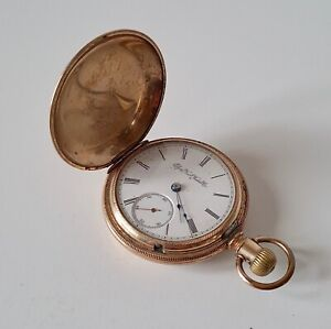ANTIQUE VICTORIAN 1885 ELGIN NAT WATCH COMPANY HUNTER POCKET WATCH