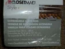 ClosetMaid Style+ 30-48 in. W Satin Nickel Adjustable Hang Rod