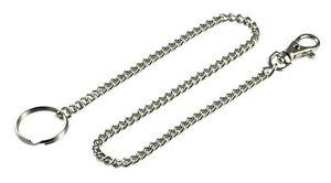 66cm Metal Hipster Key Wallet Belt Ring Clip Silver Chain Keyring Keychain
