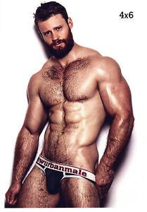 Alpha Male N Underwear Hairy All Over Muscles Beard Bear Gay Interest 4x6 Photo