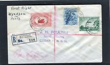 1930 Wyndham To Perth Registered First Flight Cover, 3 Stamps, Good Condition
